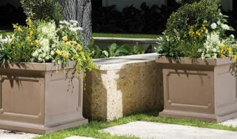 faux concrete outdoor planters